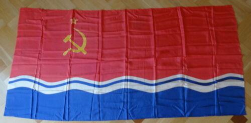 HUGE ! 180x90 cm ! Vintage SOVIET USSR Communist Socialist LATVIA FLAG Banner !