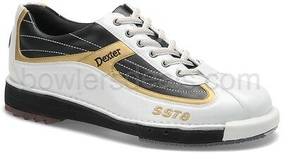 Dexter Sst 8 Men's Bowling Shoes White/black/gold