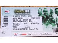 PDC Final tickets