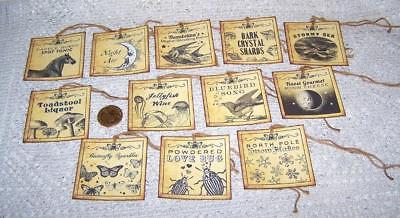 Halloween~Fantasy~Magic~Potion~Labels~Witch~Linen Cardstock~Gift~Hang~Tags - Halloween Fantasy