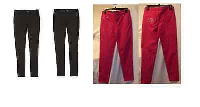 GIRLS HELLO KITTY PINK OR BLACK SKINNY PANTS MULTI COLORS &SIZES NEW WITH TAGS