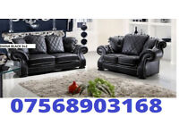 SOFA SPECIAL Diana new release 3+2 sofa set leather as in pic 5 sets only BRAND NEW 7401
