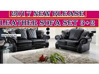 :::BANK... HOLIDAY ...SALE new release 3+2.. sofa set leather as in pic 5 sets only... BRAND NEW