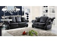 ::BANK HOLIDAY SALE.... new release 3+2 sofa set:: leather as in pic 5 sets only// BRAND NEW