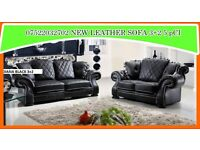 BANK HOLIDAY,,, SALE new release 3+2 sofa set leather as in pic 5 sets only BRAND NEW