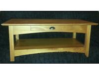 Coffee Table (or tea and any other drinks etc!) with draw and shelf