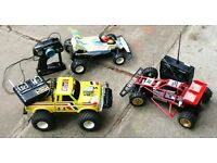 5 remote controlled model vehicles