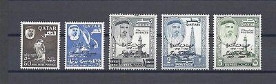 QATAR 1964 SG 43/7 MNH Cat £60
