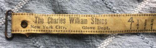 Antique Cloth Charles William Stores Glove Dept Measuring Tape Measure - 1 Foot