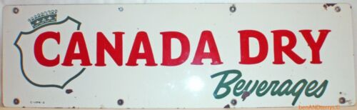 Canada Dry Beverages Porcelain Advertising Vintage Sign
