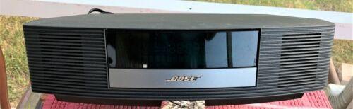 BOSE WAVE RADIO II AM/FM AUX ALARM CLOCK DARK GRAY WITH REMOTE EXCELLENT COND.