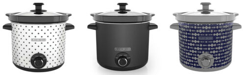 BLACK+DECKER 4 Quart Dial Control Slow Cooker with Built in