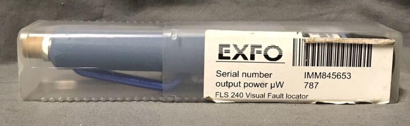 EXFO FLS-240-Visual Fault Locator NEW!! w/BOOK