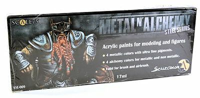 Scale 75 Metal N Alchemy   Steel Paint Set   38757