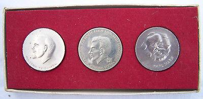 DDR 3 Medaillen Lenin Marx und Julius Fucik