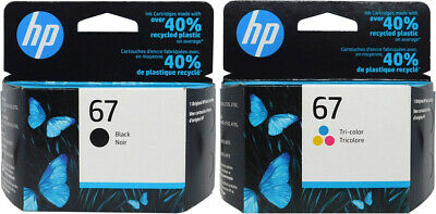 HP #67 Combo Ink Cartridges 67 Black & Color NEW GENUINE