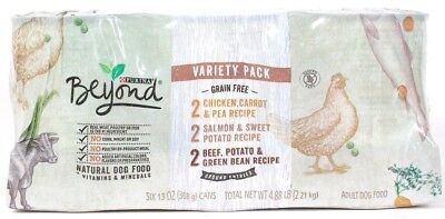 1 Purina Beyond Variety Pack Chicken Salmon Beef Ground Entrees 6 Can 13 oz