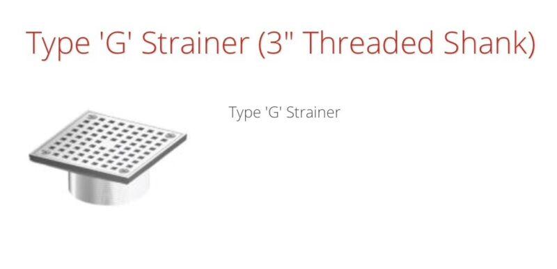 WADE G type floor drain strainer part # G6 Satin finish nickel/Bronzetop 353126