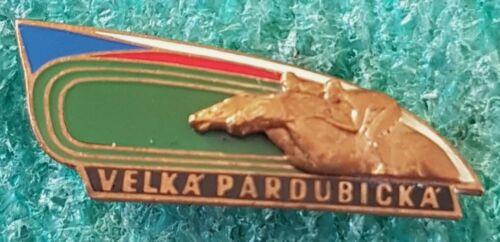VELKA PARDUBICKA HORSE RACING CZECHOSLOVAKIA OLD PIN BADGE