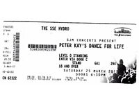 2 tickets for the fantastic Peter Kay Dance for life at the Glasgow SSE Hydro