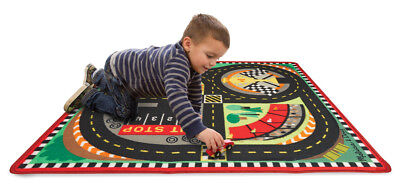 Melissa & Doug Round the Speedway Race Track Rug & Car Set Ages 3+ for sale  Shipping to India