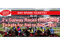 2 x Galway Races tickets for Sat 4th Sun 5th
