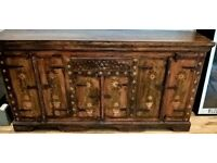 ANTIQUE Solid wood Sideboard - Hand decorated