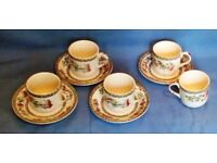 "Coffee cups and saucers ~ ""Indian Tree"" by Johnson Bros"