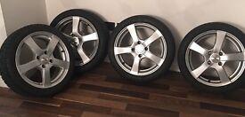 4 Pirelli winter tyres plus alloys