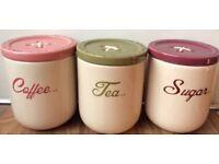 NEXT tea, coffee, sugar pots