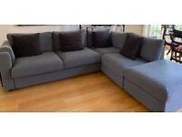New corner sofa bed, 5 seats with storage