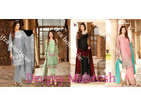 Latest Semi stitched suit salwar kameez dupatta indian pakistani bollywood