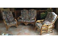 3 piece cane conservatory furniture suite