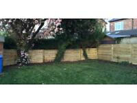 🍀 Heavy Duty Tanalised Wooden Garden Fence Panels ~ Various Styles & Sizes