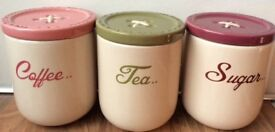 NEXT tea, coffee and sugar pots
