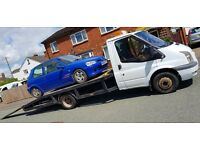 Ford transit recovery truck with mk7 front end