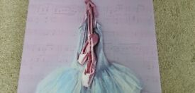 Ballet shoes and tutu picture