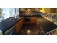 Complete kitchen incl. gas oven, hob, washing machine, fridge and freezer