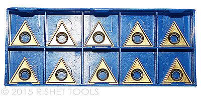 Rishet Tools Tt 322 C5 Multi Layer Tin Coated Carbide Inserts 10 Pcs
