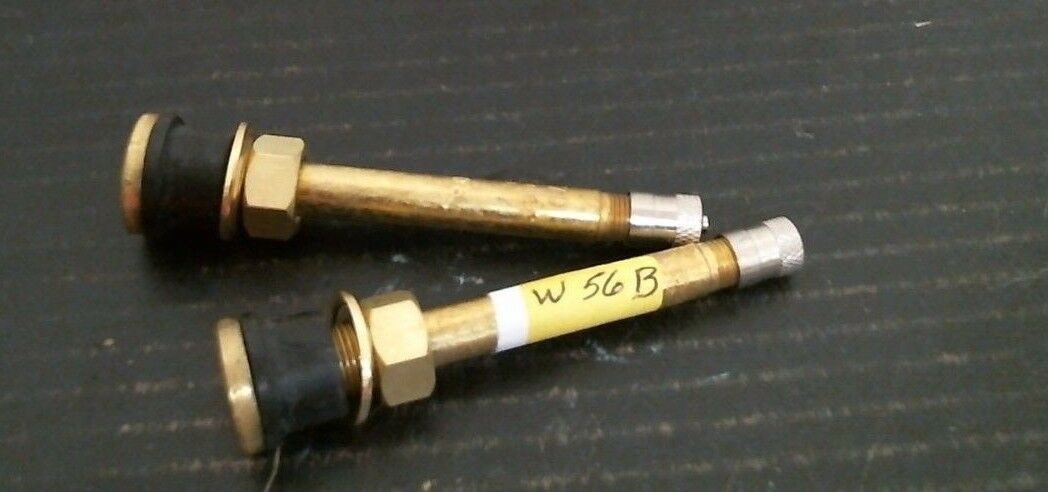"Schrader Effective Length 3-1/8"" Brass Valve Stem w/ Cap TR-570  2 Per Order"