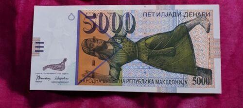 5000 DENARS MACEDONIA Denari UNC  Banknotes NEW (P19a)