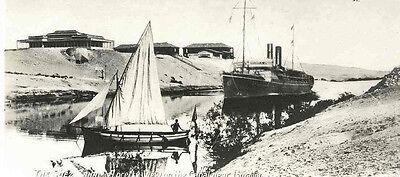 SUEZ KANAL - ÄGYPTEN 1935 - 2 OriginalFotografien - wohl LEHNERT & LANDROCK