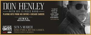 DON HENLEY Day on the Green :  4 x Reserve Seating tickets Kallaroo Joondalup Area Preview
