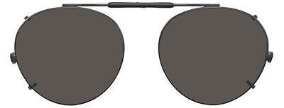 Visionaries Polarized Clip on Sunglasses - Round - Bronze Frame - 49 x 43 Eye