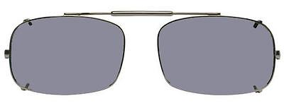 Visionaries Polarized Clip on Sunglasses - DRX Rec - Black Frame - 52 x 33 Eye