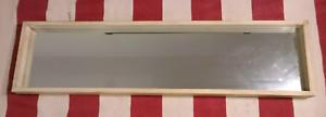 Mirror - light timber frame