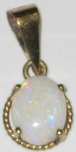 9 Karat Gold Australian White Opal Pendant