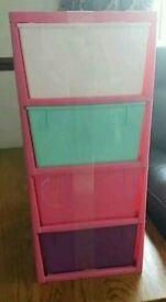 x2 Drawers girls dunelm drawer tower storage solution
