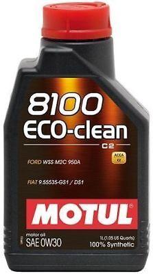 1 lt Motul 8100 Eco-Clean 0W30 Olio Motore 100% Sintetico ACEA C2 API SN 102888