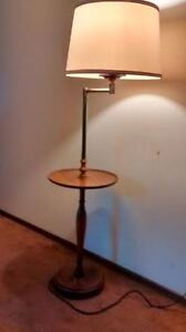 Vintage Floor Lamp with Small Round Table